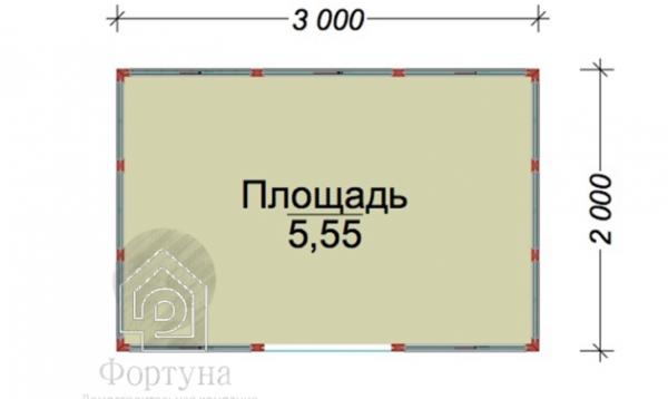 """Беседка деревянная """"Остров"""" 3x2 м"""