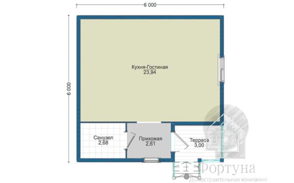 Каркасный дом Аскет-32 6х6