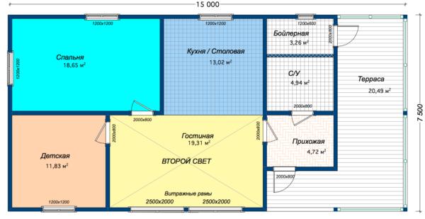 Дом Шале -97 - Планировка